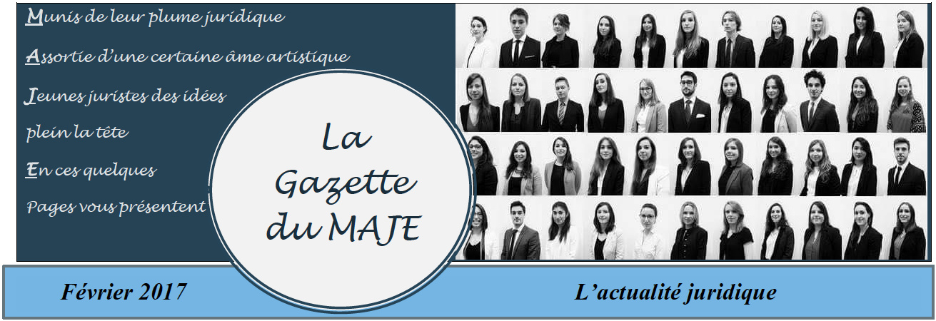 La Gazette du MAJE n°5 - Février 2017