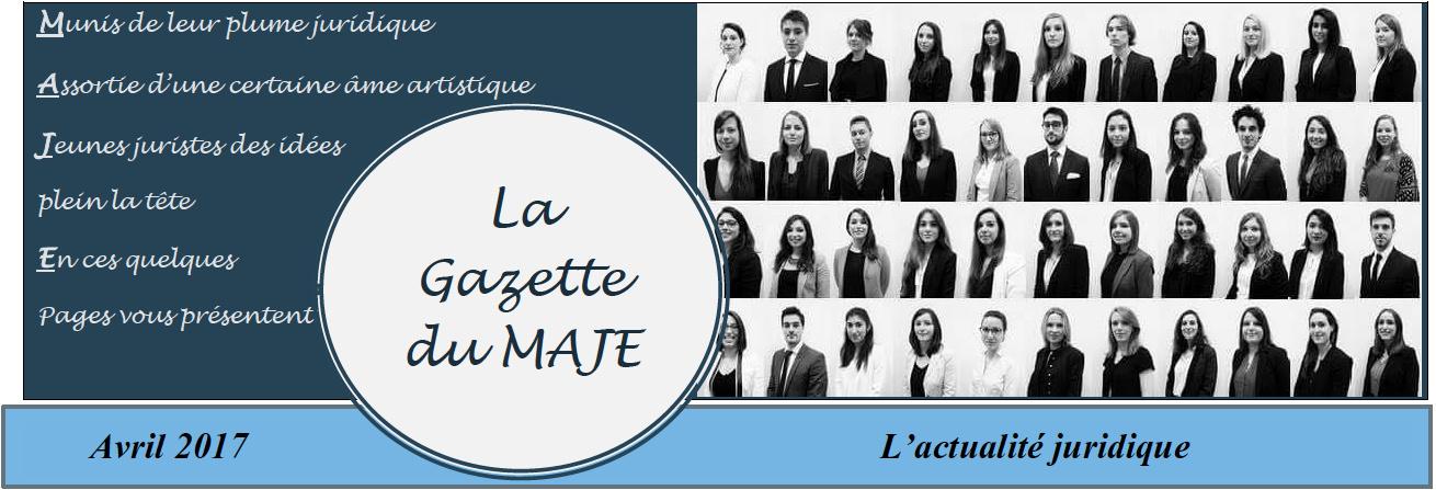 La Gazette du MAJE n°6 - Avril 2017