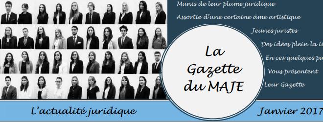 Gazette du MAJE n°4 - Janvier 2017