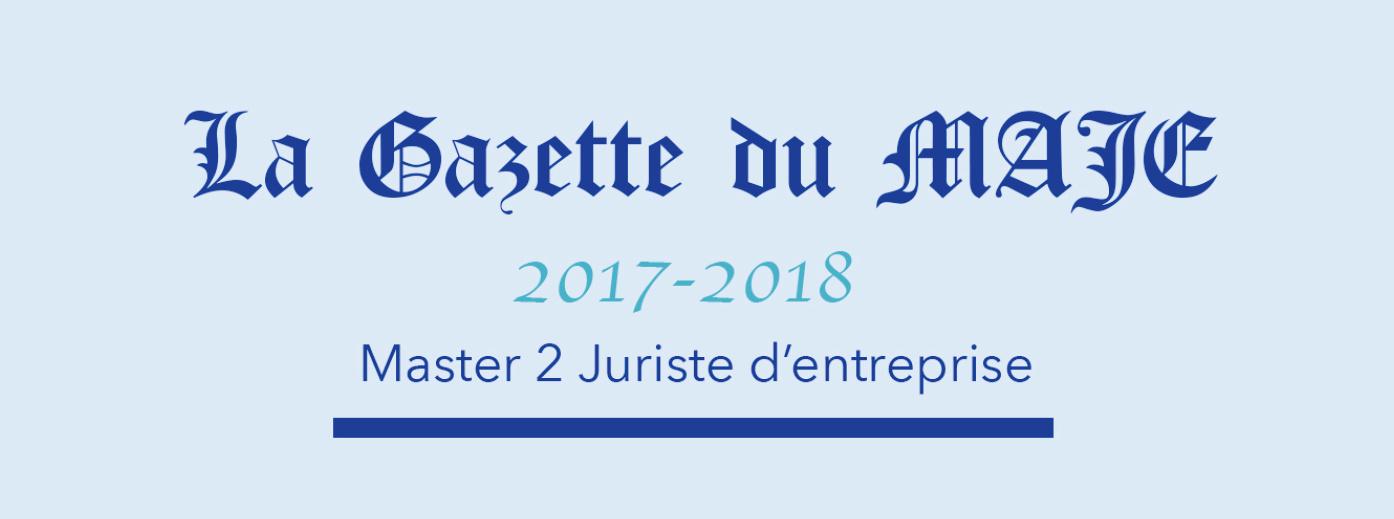Bandeau Gazette du MAJE 2017-2018