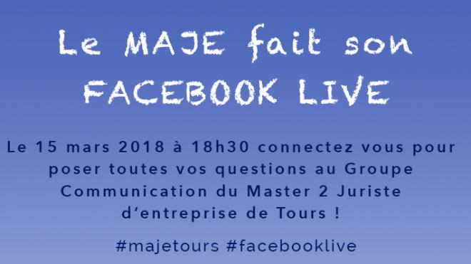 Facebook Live du MAJE