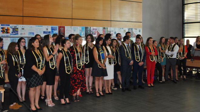 Remise des diplômes de la promotion du MAJE 2017 - 2018