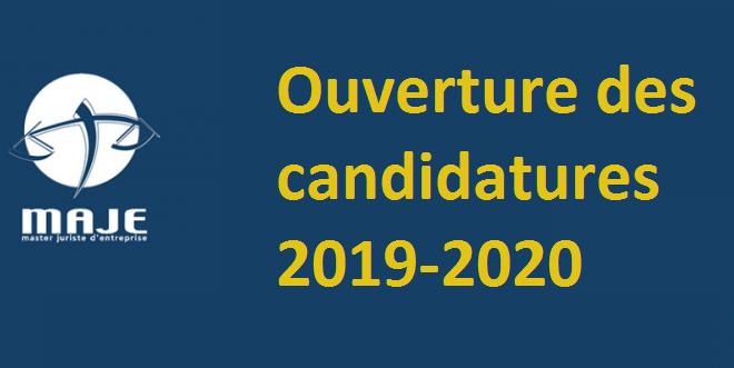 Inscriptions pour l'année 2019-2020